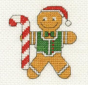 DMC Cross Stitch Kit - Mini Christmas Kit - Gingerbread Man