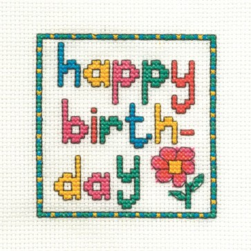 Floral Happy Birthday - Mini Birthday Kit - BK980-Q