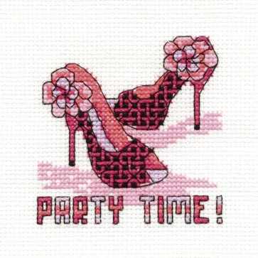 DMC Cross Stitch Kit - Mini Birthday Kit - Party Time