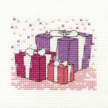 DMC Cross Stitch Kit - Mini Birthday Kit - Presents