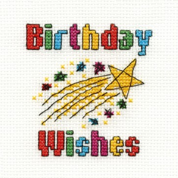 DMC Cross Stitch Kit - Mini Birthday Kit - Birthday Wishes