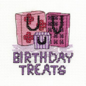 DMC Cross Stitch Kit - Mini Birthday Kit - Birthday Treats