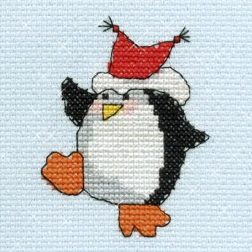 DMC Cross Stitch Kit - Mini Christmas Kit - Penguin