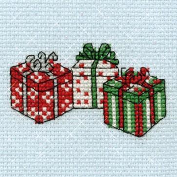 DMC Cross Stitch Kit - Mini Christmas Kit - Presents