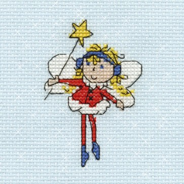 DMC Cross Stitch Kit - Mini Christmas Kit - Fairy