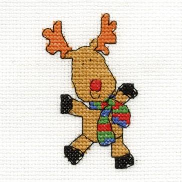 DMC Cross Stitch Kit - Mini Christmas Kit - Reindeer