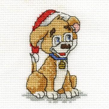 DMC Cross Stitch Kit - Mini Christmas Kit - Dog