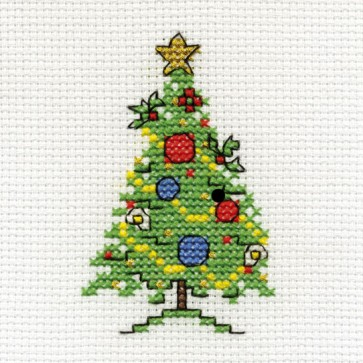 DMC Cross Stitch Kit - Mini Christmas Kit - Tree