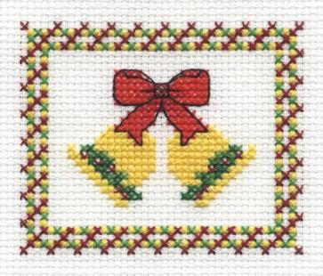 DMC Cross Stitch Kit - Christmas - Bells And Bows