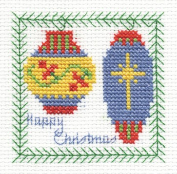 DMC Cross Stitch Kit - Christmas - Baubles