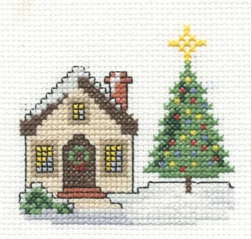 DMC Cross Stitch Kit - Christmas - Christmas Cottage