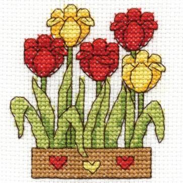 DMC Cross Stitch Kit - Flowers - Tulips