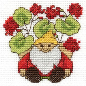 DMC Cross Stitch Kit - Flowers - Geraniums