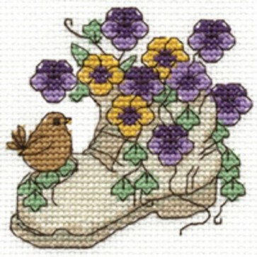 DMC Cross Stitch Kit - Flowers - Pansies