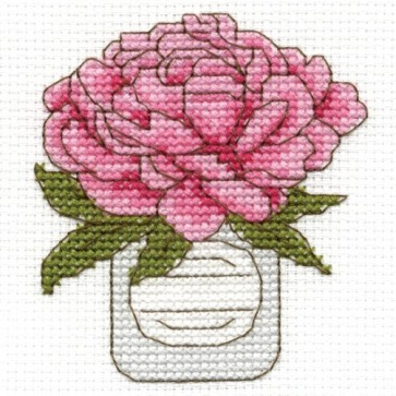DMC Cross Stitch Kit - Flowers - Peonies