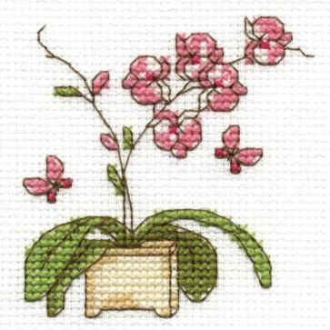 DMC Cross Stitch Kit - Flowers - Orchid