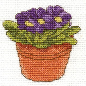 DMC Cross Stitch Kit - Flowers - Primula