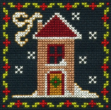 DMC Counted Cross Stitch Kit - Snowy House