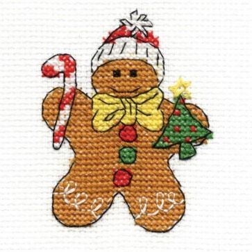 DMC Cross Stitch Kit - Gingerbread Man - Mini Christmas Kit