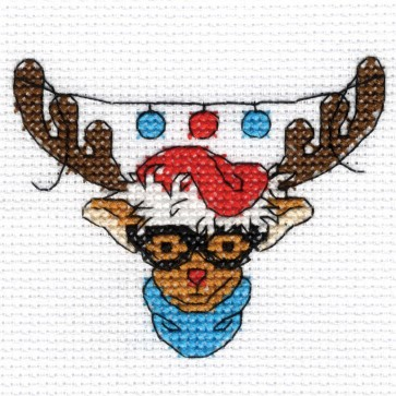 DMC Cross Stitch Kit - Rudolph - Mini Christmas Kit