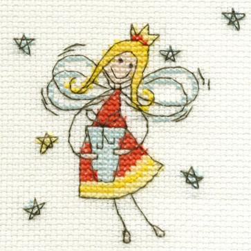 DMC Cross Stitch Kit - Mini Christmas Kit - Christmas Fairy