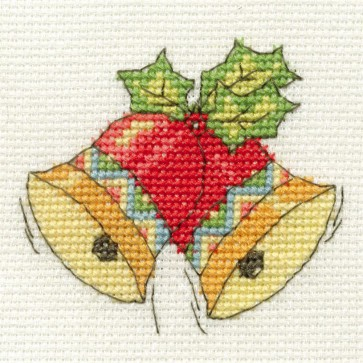 DMC Cross Stitch Kit - Mini Christmas Kit - Christmas Bells