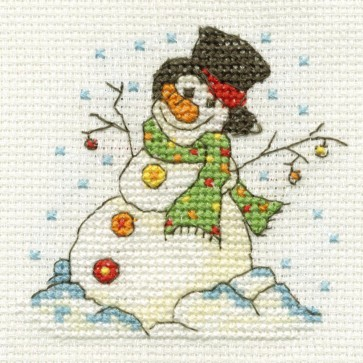 DMC Cross Stitch Kit - Mini Christmas Kit - Bauble Snowman