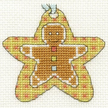 DMC Cross Stitch Kit - Mini Christmas Kit - Star Gingerbread Man