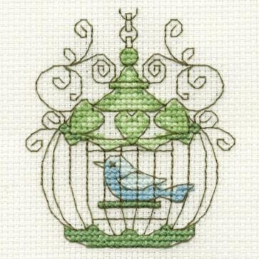 DMC Cross Stitch Kit - Vintage - Birdcage