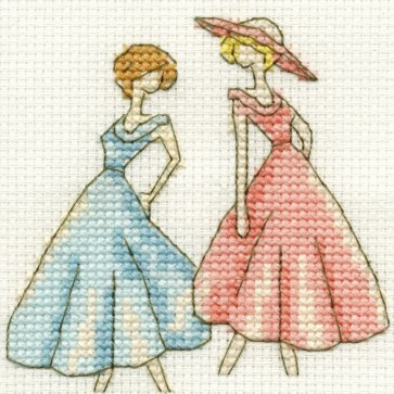 DMC Cross Stitch Kit - Vintage - Vintage Dresses