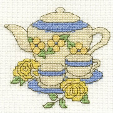 DMC Cross Stitch Kit - Vintage - Teaset