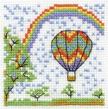 DMC Cross Stitch Kit - Make A Wish - Ride A Hot Air Balloon