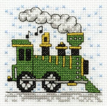 DMC Cross Stitch Kit - Make A Wish - Drive A Steam Train