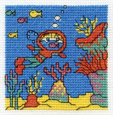 DMC Cross Stitch Kit - Make A Wish - Go Deep Sea Diving