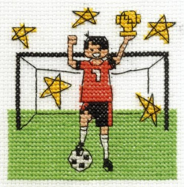 DMC Cross Stitch Kit - Make A Wish - Be A Football Star