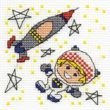 DMC Cross Stitch Kit - Make A Wish - Be A Rocket Man
