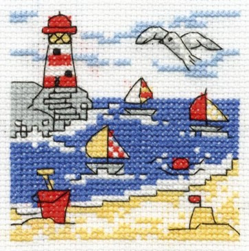 DMC Cross Stitch Kit - Make A Wish - A Trip To The Seaside