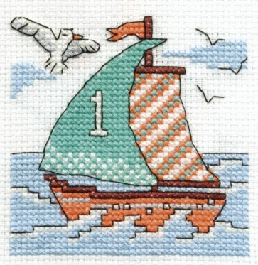DMC Cross Stitch Kit - Make A Wish - Sail A Boat