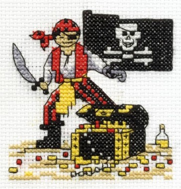 DMC Cross Stitch Kit - Make A Wish - Be A Pirate