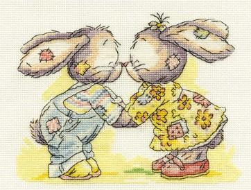 DMC Cross Stitch Kit - Somebunny To Love - Eskimo Kiss