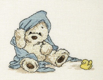 DMC Cross Stitch Kit - Lickle Ted - Lickle Bit Cleaner