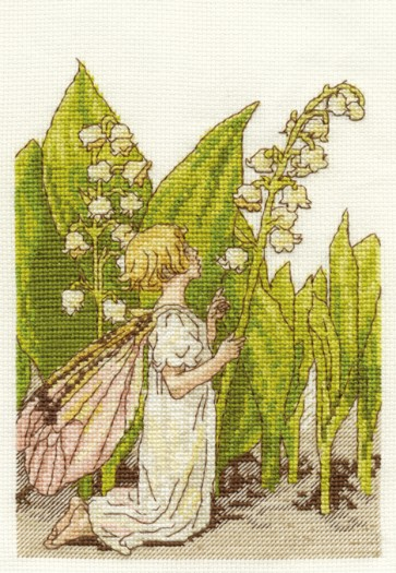DMC Cross Stitch Kit - Flower Fairies - The Lily Of The Valley Fairy