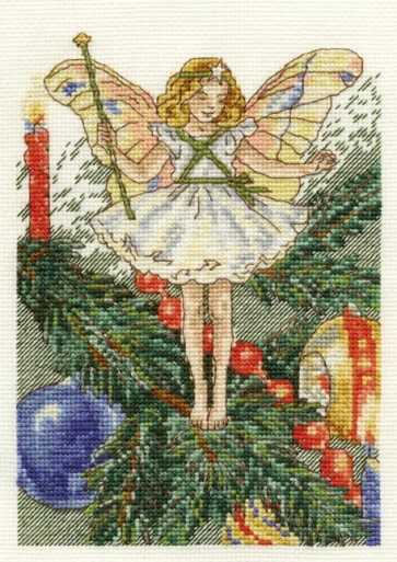 DMC Cross Stitch Kit - Flower Fairies - The Christmas Tree Fairy
