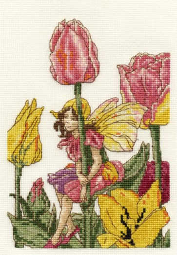 DMC Cross Stitch Kit - Flower Fairies - The Tulip Fairy