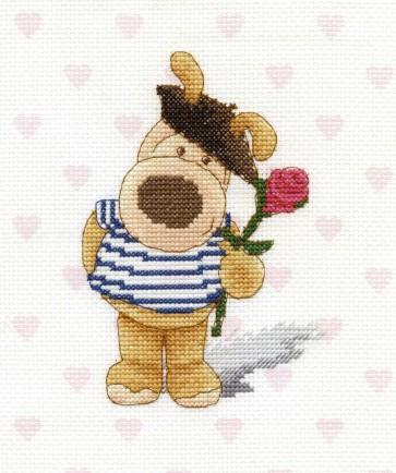 DMC Cross Stitch Kit - Boofle - Je t'aime Boofle