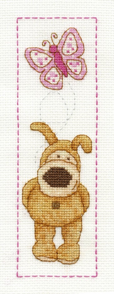 DMC Cross Stitch Kit - Boofle - Boofle Butterfly Bookmark