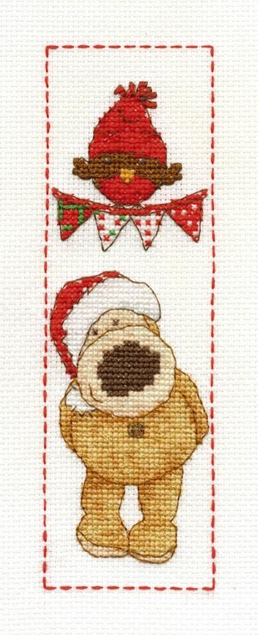 DMC Cross Stitch Kit - Boofle - Christmas Boofle Bookmark