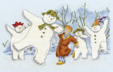 DMC Cross Stitch Kit - Christmas - The Snowman Party