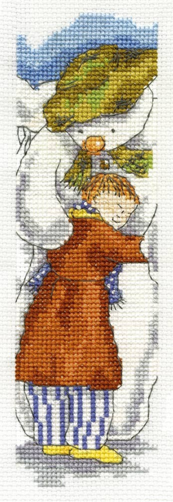DMC Cross Stitch Kit - Christmas - James And The Snowman Bookmark