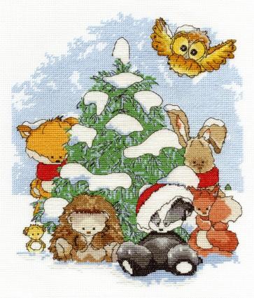 DMC Cross Stitch Kit - Woodland Folk - Winter Wonderland